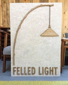Really happy with the new Felled Light sign look out for it at #renegadelondon #renegadecraftfair Thanks to Michael and James at the Slade School of Art for their help in making it. #londonmade #lasercut #felledlight #designermaker by felledlight