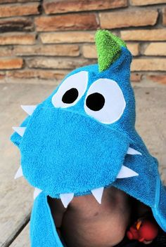 Dragon Hooded Towel Tutorial - Crazy Little Projects