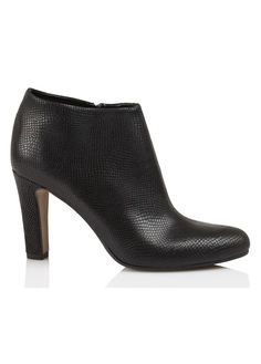 E-boutique Boots À Talons En Cuir Clez Aelys Noir Eden femme | Place des Tendances