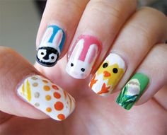 Easter 2011 nail art  (April 2011)