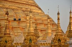 The main stupa and the gorgeous pagodas  Living in Sin: Yangon, Myanmar - don't miss the Shwedagon Pagoda - it is gorgeous