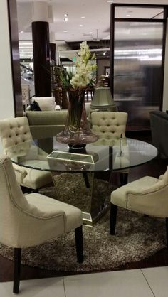 Mirrored Glass Dining Table