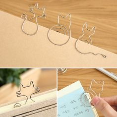 New Fashion 2pcs/lot Creative Cute Paper Clips Bookmark Memo Clip for Office School Supplies Stationery School Office Supplies  #Affiliate