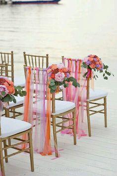 Decoração de casamento para cadeira