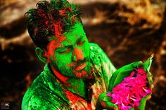 Faith of Colors Shot this image on festival of #colors called as #Holi, where one can bee seen in different emotion filled with intense of spirituality,religious and colorful, here i found the person with contrast of green and pink,which he was perfectly showcasing the #frame which emerges the trust and faith on the occasion of #festival where he was walking towards temple.