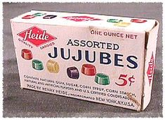 Jujubes ....Oh my lord! Have not seen these for Years. They were one of my favorites!!