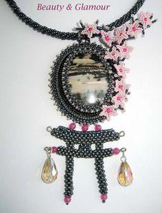 Sakura flowers Pendant | biser.info - всё о бисере и бисерном творчестве