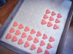 Valentines Day isnt complete without a few heart-shaped treats. The printable template for these macarons can be found at: http://www.food.com/article/stranger-things-valentines-day-306