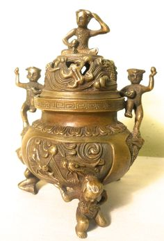 Vintage Bronze Incense Burner (8511)