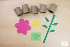 Make this toy to learn parts of a flower with TP rolls! Children 'grow' their flower by stacking the TP rolls. More ideas to extend learning here. Parts Of A Flower, Parts Of A Plant, Preschool Garden, Preschool Crafts, Flower Crafts Kids, Creative Curriculum Preschool, Recycled Crafts Kids, Plant Science, Mothers Day Crafts For Kids