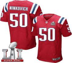 Nike Patriots #50 Rob Ninkovich Red Alternate Super Bowl LI 51 Men's Stitched NFL Elite Jersey