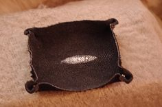 Change tray made out of Manta Ray Manta Ray, Making Out, Tray, Change, Leather, Board
