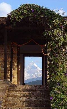 Tiger Mountain Pokhara Lodge offers guests front-row views to three of the world's ten tallest mountains. #Indistay | Pokhara, Nepal