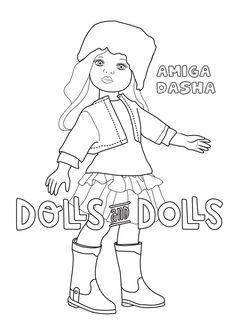 #Dibujo para #colorear de Dasha GRATIS #muñeca #muñecas #doll #dolls #paolareina