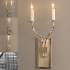Homer Sconce Series  Sandcast, nickel enriched, copper alloy (Brass) that has been hand chased and individually made by hand.  The diamond cut pattern on the backplate is deep and sharp.  Many choices in shapes, finish and number of arms. For all sconces visit :