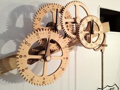 Wooden Clock face, made from baltic birch plywood