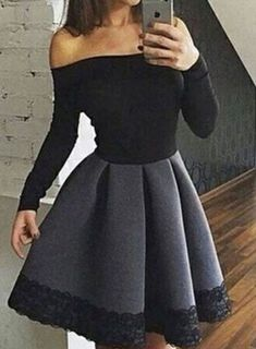 Unique gray short prom dress for teens, #dresses#style#borntowear
