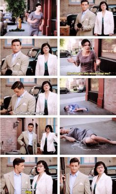 """""""You thought this would stop me?"""" - Dottie, Daniel and Peggy #AgentCarter"""