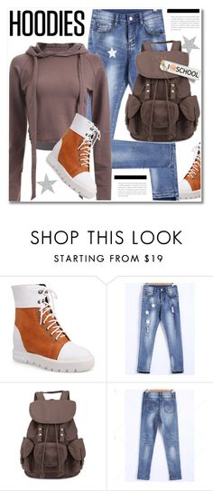 """""""Hoodies"""" by svijetlana ❤ liked on Polyvore featuring rippedjeans, Hoodies, polyvoreeditorial and twinkledeals"""