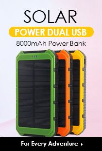 Energía Solar Dual USB Power Bank 8000mAh