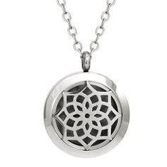 Wrought Iron 316l Stainless Steel Aromatherapy Essential Oil Diffuser Necklace