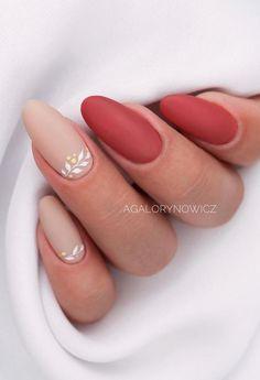 Matte Almond Nails, Almond Nail Art, Almond Shape Nails, Short Almond Nails, Almond Nails Designs Summer, Nail Designs Spring, Oval Nails, Pink Nails, Shellac Nails