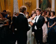 Burt Lancaster, Claudia Cardinale with Alain Delon in Il Gattopardo directed by Luchino Visconti, 1963