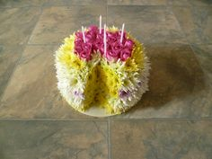 Birthday Cake Made Out Of Flowers