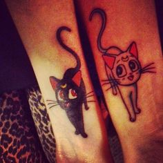 Sailor Moon Tattoos! this would be a great idea since Sailor Moon got me into anime so early on :3