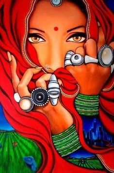 Painters Women Painters Indian Painters Indian Artists Indian Painting Artists – Paint BakesYou can find Indian paintings and more on o. Indian Women Painting, Indian Art Paintings, Modern Art Paintings, Oil Paintings, Modern Indian Art, Indian Folk Art, Indian Artist, Cherokee Indian Art, Rajasthani Painting