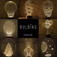 Flat LED Lights Give Off A 3D Glow - Bulbing Lamps from Studio Cheha. - if it's hip, it's here