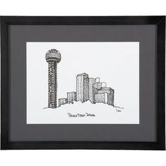 Crate & Barrel Cityscape Dallas Print