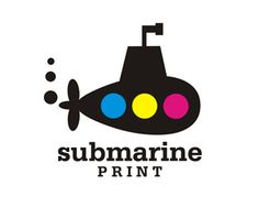 """SubmarinePrint Logo design - Cute little submarine ready to work for you.<br /><br />Funny name could be """"SUBMARINK"""". Price $250.00"""