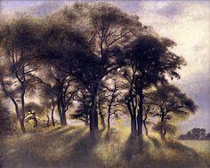 THE BLUE LANTERN: Forest Landscape: Vilhelm Hammershoi