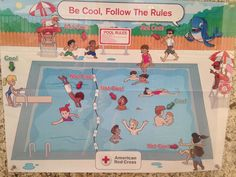 "The controversial ""Be Cool, Follow The Rules"" poster shows black children misbehaving at the pool while white children are seen following the rules."
