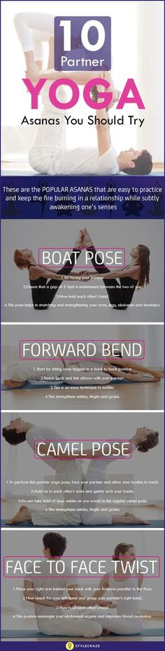 Partner yoga is a great way to strengthen your relation with your partner! Learn the effective 10 partner yoga poses you can include for a deeper level relation!