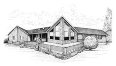 Collection of Home and Building Pen Drawings – Cape Horn Illustration
