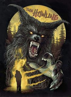 Horror Movie Poster Art : The Howling 1981 by Christopher Lovell Horror Icons, Horror Movie Posters, Movie Poster Art, Retro Horror, Vintage Horror, Arte Horror, Horror Art, Apocalypse, Werewolf Art