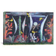iCanvas 'Landscape with Yellow Birds' by Paul Klee Painting Print on Canvas