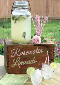 Rosewater Limeade Recipe - easy but elegant summer beverage, perfect for summer parties