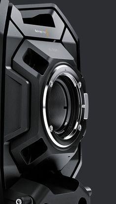 Blackmagic Design URSA Mini Pro, the digital film camera with professional broadcast camera features and controls. Id Design, Form Design, Shape Design, Design Elements, Design Tech, 3d Camera, Cinema Camera, Hard Surface Modeling, 3d Modeling