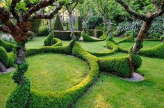 The soul is bone — Topiary hedging at Le Grand Launay, Lanrivain,...