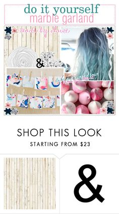 """diy water marble garland! - clairediy number 4"" by the-polyvore-tips-xo ❤ liked on Polyvore featuring interior, interiors, interior design, home, home decor, interior decorating, NLXL, Luli and Clairissasfabtips"