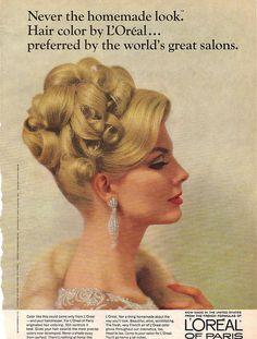 New wedding hairstyles blonde updo chignons 63 Ideas Pelo Vintage, Vintage Updo, Vintage Beauty, 1960 Hairstyles, Vintage Hairstyles, Short Hairstyles, Beautiful Hairstyles, Natural Hairstyles, Couleur L Oreal