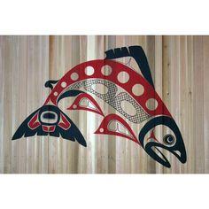 by Glen Rabena. Northwest Coast #Native #Art did our frog: