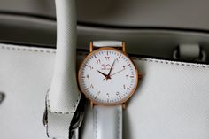 Lavish and luxury. Our genuine calfskin White Leather in Rose-Gold. 316l Stainless Steel, Pure White, Cowhide Leather, Shots, Rose Gold, Pure Products, Watches, Crystals, Luxury