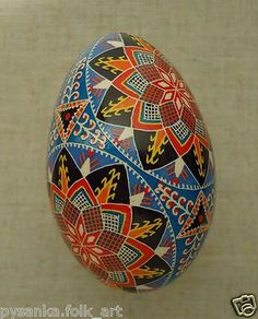 GOOSE Ukrainian Pysanka Easter Egg Pysanky Height 3 5 | eBay: