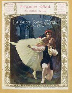 "France, Paris, Ballets Russes: Tamara Platonovna Karsavina and Waslaw Nijinsky performing the """"Sylphide"""""