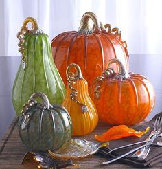Forest Pumpkins and Squash~centerpiece..<3