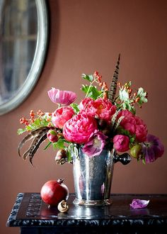 These flowers in my living room, please.... November arrangement of the month. To see how to put the look together visit: